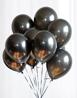 Halloween Balloons 10 Pcs Silver Latex