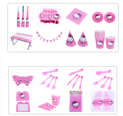Hello Kitty Party Table Decorations for 6 Kids