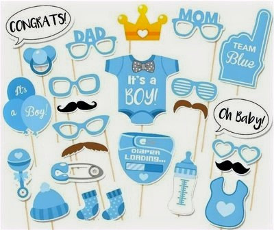 Baby Shower Photo Booth Props Kits