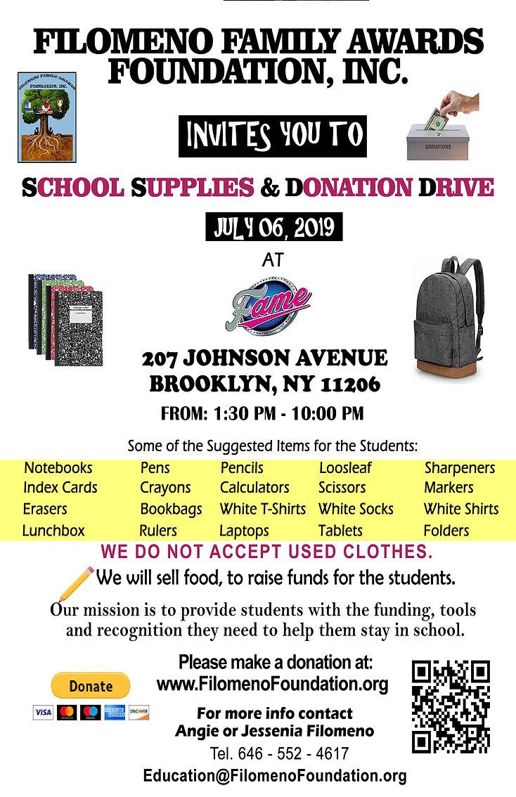 Filomeno School Supply Drive July 6, 201