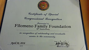 Filomeno Certificate from Congresswoman