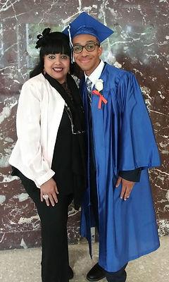 Grandma and Joseph at High School Gradua