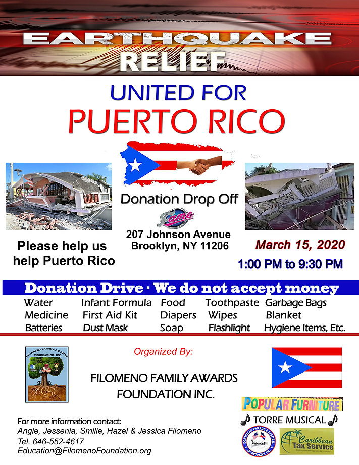 Puerto Rico Drive Flyer - Earthquakes co