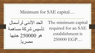 What is SAE capital minimum requirements?