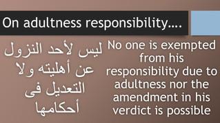On adultness responsibility