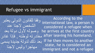Refugee vs immigrant....