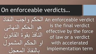 On enforceable verdicts....