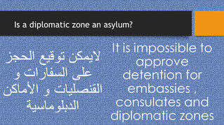 On diplomatic zones...