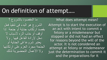 On definition of attempt...