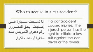 Driver and car owner are liable...