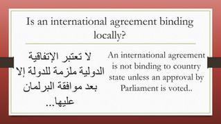 An international agreement...