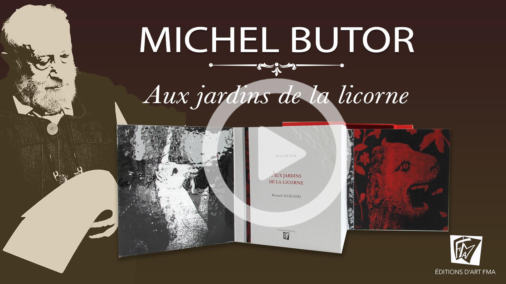 Lecture et feuilletage du livre d'artiste Aux jardins de la licorne