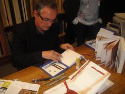Dédicace de Terre d'ombre brûlée de Gaston Puel, Bernard Alligand. Editions d'art FMA