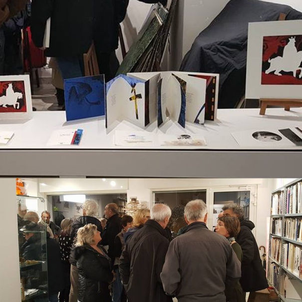 Exposition des Livres d'artistes de Michel Butor et Bernard Alligand