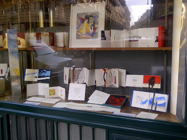 Librairie Blaizot exposition des éditions d'art FMA et livres d'artiste de Bernard Alligand
