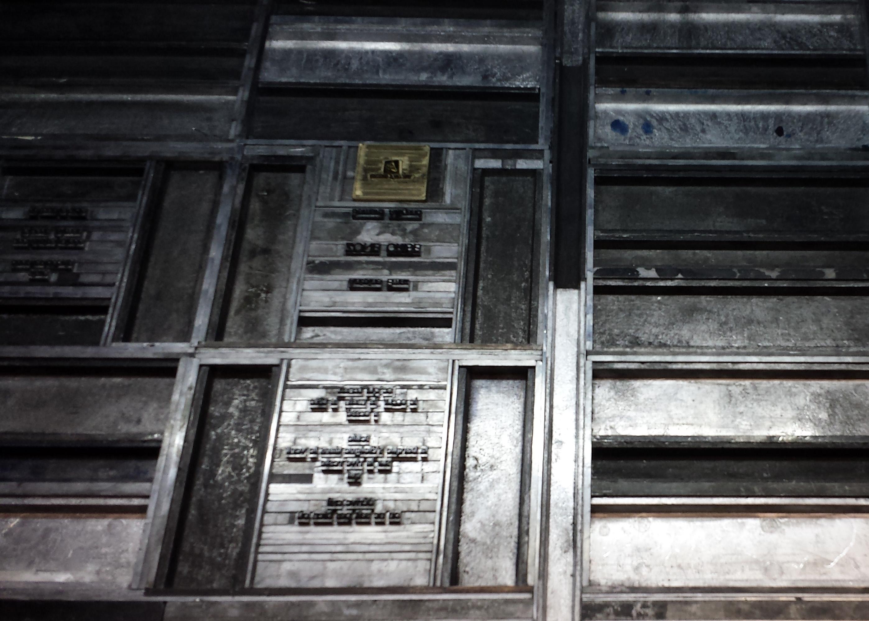Calage sur presse typographique Heidelberg