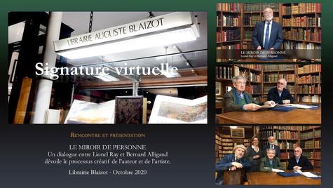 Signature virtuelle à la Librairie Blaizot