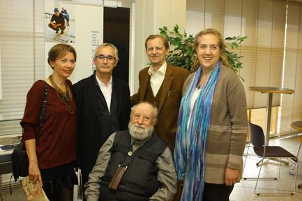 M. Butor et sa fille Agnès, Sigurdur Palsson, F. et B. Alligand, 2014