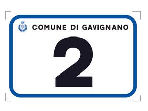 Comune di Gavignano, avvio dell'affissione della Numerazione Civica sul territorio extraurbano.