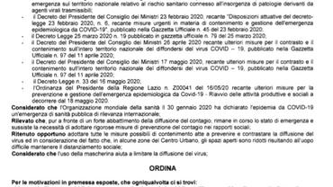 ORDINANZA N. 43/2020:REVOCA PARZIALE ORDINANZA SULL'USO DELLE MASCHERINE NEL TERRITORIO DI SGURG
