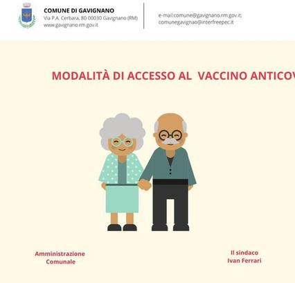 PUBBLICATE LE MODALITÀ DI ACCESSO AL VACCINO ANTI COVID PER GLI OVER 80 PRENOTAZIONE ONLINE.