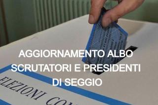 Aggiornamento albo delle persone idonee all'ufficio di Scrutatore e Presidente di seggio elettorale.