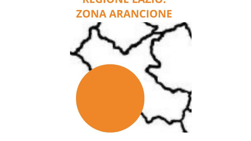 Il Lazio diventa zona arancione