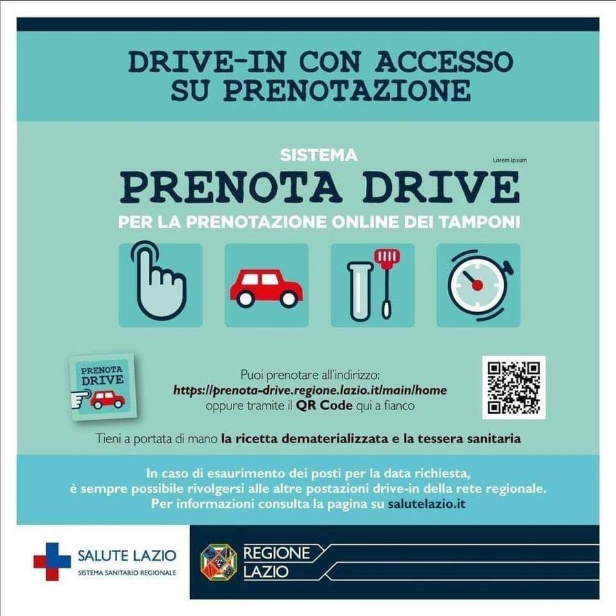PRENOTA DRIVE - DRIVE-IN CON ACCESSO SU PRENOTAZIONE.