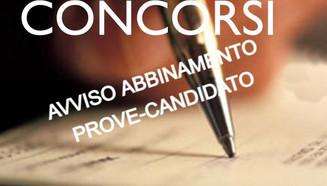 AVVISO ABBINAMENTO PROVE-CANDIDATO