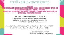 SCUOLA DELL'INFANZIA SUPINO: ORARI D.A.D.