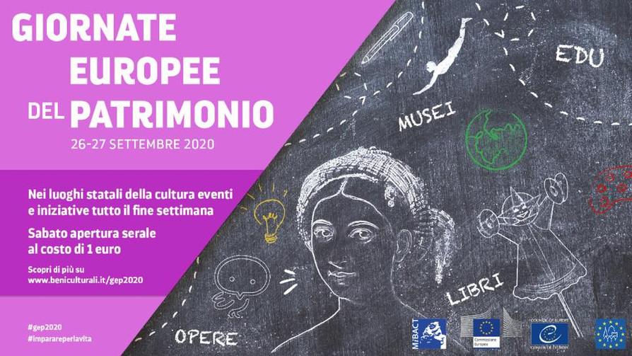 Giornate Europee del Patrimonio26/27 Settembre 2020