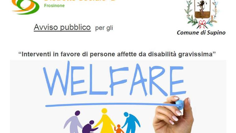 """Interventi in favore di persone affette da disabilità gravissima"""""""