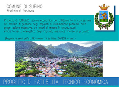 BANDO DI GARA- PROCEDURA APERTA, PUBBLICA ILLUMINAZIONE NEL COMUNE DI SUPINO.