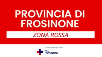 PROVINCIA DI FROSINONE IN ZONA ROSSA