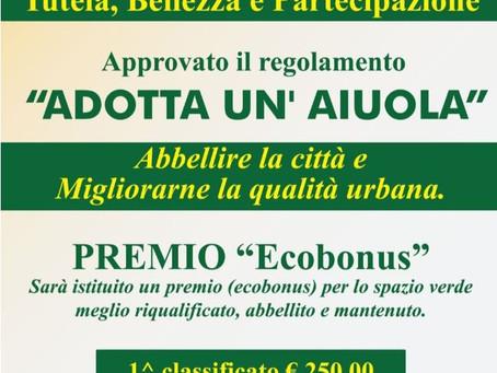 """""""ADOTTA UN AIUOLA""""  - Premio """"Ecobonus"""""""