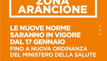 ll Lazio in ZONA ARANCIONE dal 17 gennaio fino a nuova Ordinanza del Ministero della Salute.