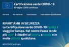Certificazione verde COVID-19EU digital COVID certificate.