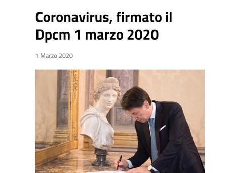 Nuovo DPCM 01.04.2020 - Proroga Misure.