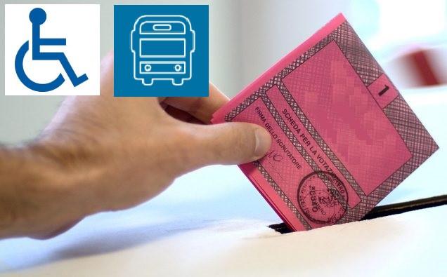 ELEZIONI DEL 20 e 21 settembre 2020 - SERVIZIO di TRASPORTO PUBBLICO in FAVORE di PORTATORI DI HANDI