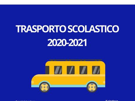 RICHIESTA DI TRASPORTO SCOLASTICO A.S. 2020/2021  - PRE ISCRIZIONE.