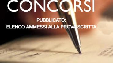 PUBBLICATO: ELENCO AMMESSI ALLA PROVA SCRITTA