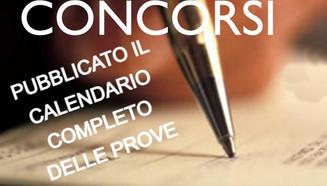 PUBBLICATO IL CALENDARIO COMPLETO DELLE PROVE-CONCORSO PUBBLICO PER LA COPERTURA DI N. 1 POSTI...