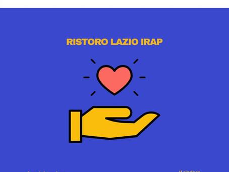 RISTORO LAZIO IRAP online da oggi il bando della Regione Lazio che mette a disposizione 51 milioni.