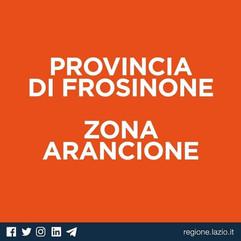 PROVINCIA DI FROSINONE IN ZONA ARANCIONE