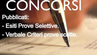 PUBBLICATI: PROVA PRESELETTIVA 15.04.2021-ESITO NOMINATIVO GENERALE E CRITERI DELLE PROVE SCRITTE.