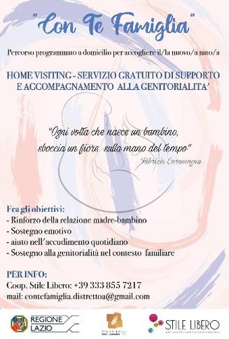 """Adesione al servizio di HOME VISITING-Programma """"Con Te Famiglia"""""""