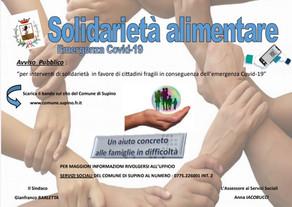 """""""INTERVENTI DI SOLIDARIETA' IN FAVORE DI CITTADINI FRAGILI IN CONSEGUENZA DELL'EMERGENZA COVID-19"""""""