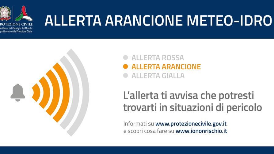 ALLERTA ARANCIONE METEO-IDRO