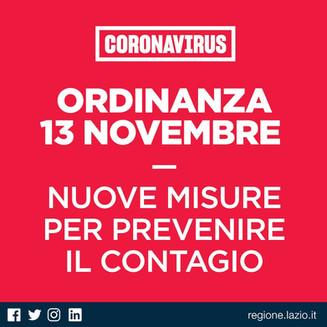 Regione Lazio: Ordinanza 13 Dicembre 2012 - Nuove misure per prevenire il contagio.