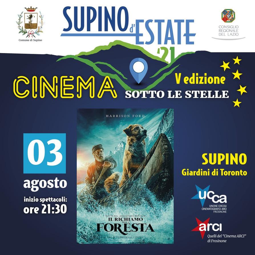 01 - 15 AGOSTO 2021 #Supino - CINEMA SOTTO LE STELLE - V Edizione.